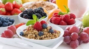 healthy foods on a table